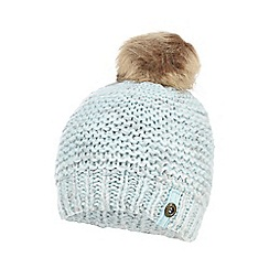 Mantaray - Girls' light blue glittery pom pom beanie hat