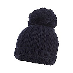 bluezoo - Boys' navy knitted pom pom beanie hat