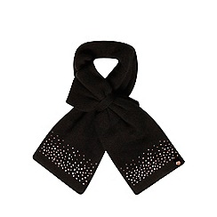 Baker by Ted Baker - Girls' black diamante bow scarf with cashmere
