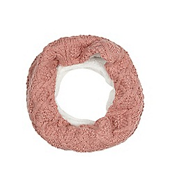 Mantaray - Pink cable knit snood