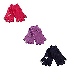 bluezoo - Pack of three children's assorted sparkle magic gloves