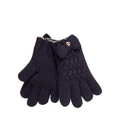 Baker by Ted Baker - Girls' navy knitted gloves