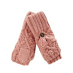 Mantaray - Girls' pink flip top mittens