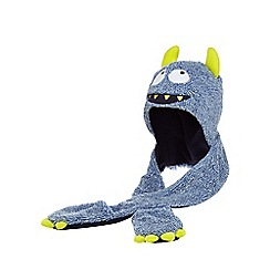 bluezoo - Boys' blue monster hat scarf