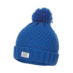 bluezoo - Boys' blue pom pom beanie hat