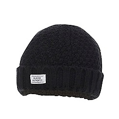 bluezoo - Boys' black beanie hat