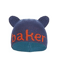 Baker by Ted Baker - Boys' navy logo embroidered reversible beanie hat