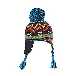 Mantaray - Boys' multi-coloured knitted trapper hat
