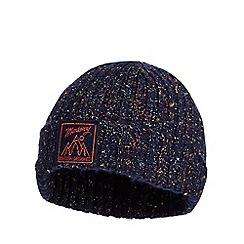 Mantaray - Boys' navy knitted beanie hat