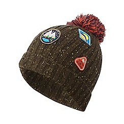 Mantaray - Boys' khaki badge applique beanie