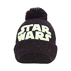 Star Wars - Boys' black glow in the dark pom pom beanie