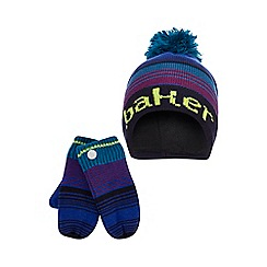 Baker by Ted Baker - Boys' multi-coloured ombre-effect hat and gloves set