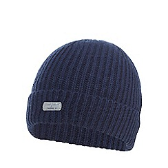J by Jasper Conran - Boys' navy ribbed beanie hat with wool