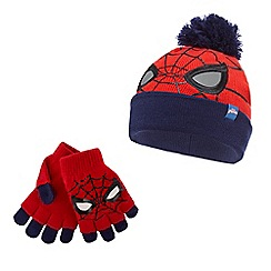 Spider-man - Boys' red 'Spider-Man' hat and gloves set