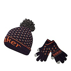 Baker by Ted Baker - Boys' multi-coloured spot print hat and gloves set