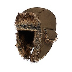Mantaray - Boys' khaki faux fur trapper hat