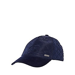 J by Jasper Conran - Navy quilted baseball cap