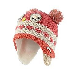 RJR.John Rocha - Designer girl's pink owl knitted trapper hat