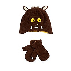 The Gruffalo - Boy's brown 'Gruffalo' fleece hat and mittens set