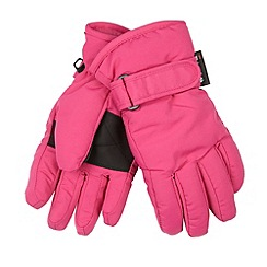 bluezoo - Girl's pink insulated gloves