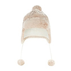 Baker by Ted Baker - Girl's pale pink faux fur trapper hat