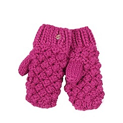 Baker by Ted Baker - Girl's pink knitted mittens