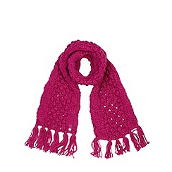 Baker by Ted Baker - Girl's pink chunky knit scarf