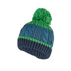 bluezoo - Boy's green cable knitted bobble hat
