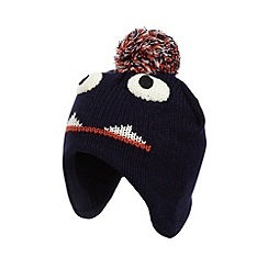 bluezoo - Boy's navy monster trapper hat