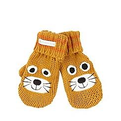RJR.John Rocha - Designer boy's mustard lion mittens
