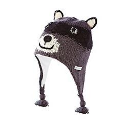 RJR.John Rocha - Designer boy's grey knitted racoon trapper hat