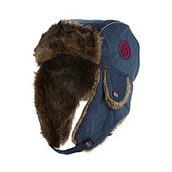 Baker by Ted Baker - Boy's navy quilted trapper hat