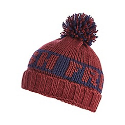 bluezoo - Boy's wine 'Fresh' bobble hat