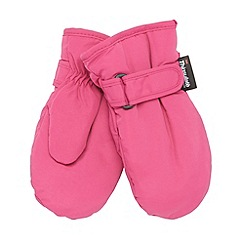 bluezoo - Girl's pink 'Thinsulate' rip tape mittens