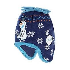 Disney Frozen - Boy's navy 'Frozen' trapper hat