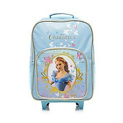 Disney Princess - Girl's light blue 'Cinderella' trolley bag