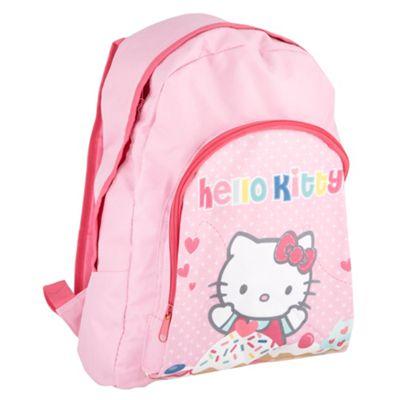 Girls pink Hello Kitty cupcake rucksack