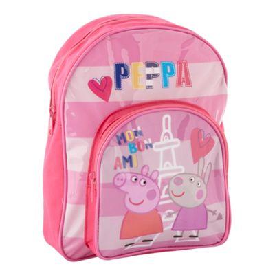 Girls pink Peppa Pig rucksack