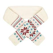 Girl's cream Fair Isle knitted scarf