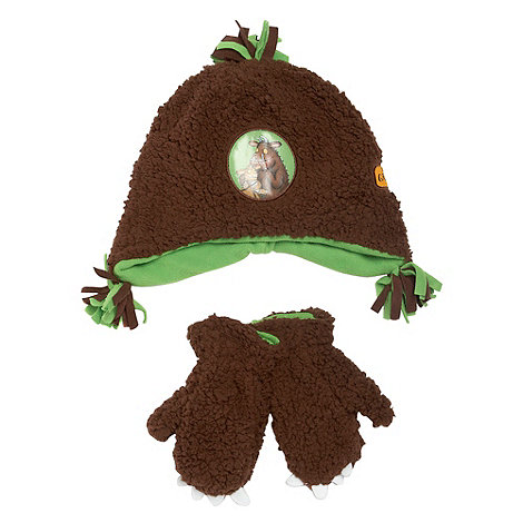 The Gruffalo - Boy+s brown Gruffalo hat and mittens set