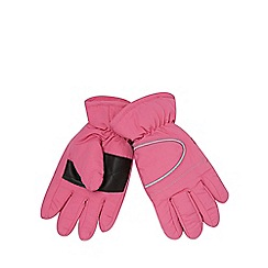 bluezoo - Girl's pink 'Thinsulate' fleece lined gloves