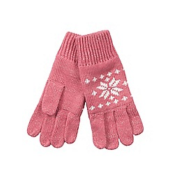 bluezoo - Girl's pink fairisle gloves