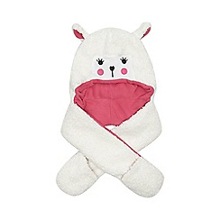 bluezoo - Girl's white 3-in-1 sheep hat, scarf and mittens