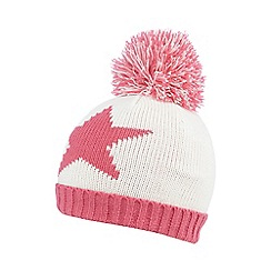 bluezoo - Girls' pink star beanie hat