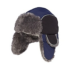 bluezoo - Boy's navy 'Thinsulate' fleece lined trapper hat