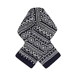 bluezoo - Boy's navy fairisle scarf