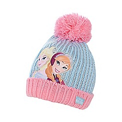 Disney Frozen - Girl's pink 'Frozen' bobble hat and mittens set