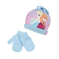 Disney Frozen - Girls' pink 'Frozen' hat and gloves set