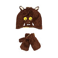 The Gruffalo - Boy's brown 'Gruffalo' beanie hat and mittens