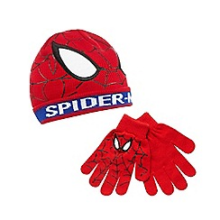 Spider-man - Set of red Spiderman hat and gloves